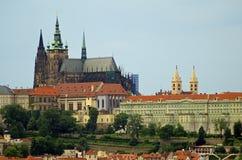 布拉格城堡& St.Vitus大教堂 库存照片