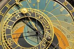 布拉格塔时钟 库存图片