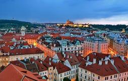 布拉格夜 库存图片