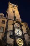 布拉格天文学手表 库存照片