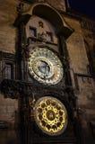 布拉格天文学手表 免版税库存照片
