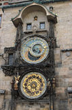 布拉格天文学时钟或Orloj在老城镇厅在布拉格 免版税库存图片