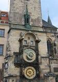 布拉格天文学时钟或Orloj在老城镇厅在布拉格 免版税图库摄影