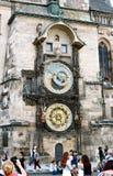 布拉格天文学时钟或Orloj在老城镇厅在Pragu 图库摄影