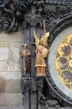 布拉格天文学时钟雕象  库存图片