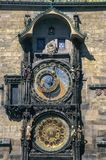 布拉格天文学时钟Orloj在老镇布拉格,捷克共和国 库存图片