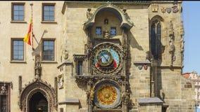 布拉格天文学时钟timelapse 8k 股票视频