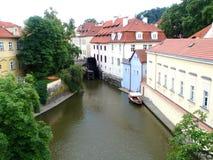 布拉格威尼斯,修造在水 首都布拉格,捷克,欧洲 免版税库存照片