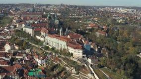 布拉格寄生虫空中布拉格城堡 影视素材