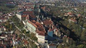 布拉格寄生虫空中布拉格城堡 股票视频