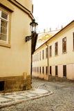 布拉格小的街道 库存照片