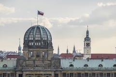布拉格尺侧皮从Letnà ¡庭院,布拉格 免版税库存照片