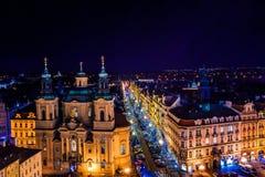 布拉格屋顶看法在老镇布拉格,捷克Republich 库存图片