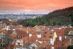 布拉格屋顶 库存照片