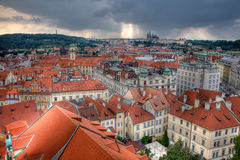 布拉格屋顶 免版税库存照片