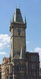 布拉格市政厅塔 免版税图库摄影