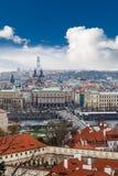 布拉格市视图 免版税库存照片