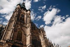 布拉格市 cesky捷克krumlov中世纪老共和国城镇视图 欧洲 库存照片