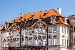 布拉格房子,捷克 老镇,正方形 免版税图库摄影