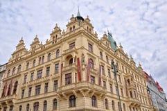 布拉格房子 免版税库存照片