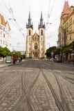 布拉格捷克- 9月09日 2018年:圣安东尼教会  免版税库存照片