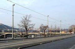布拉格是城市,并且捷克的首都是一个传统欧洲文化中心 城市的视图 免版税库存照片