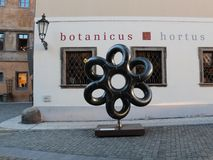 布拉格有趣的街道纪念碑 免版税库存照片