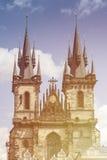 布拉格标志大厦 Ghotic建筑学在捷克 免版税库存照片