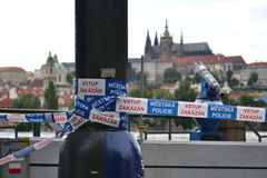 布拉格没有词条 免版税库存照片