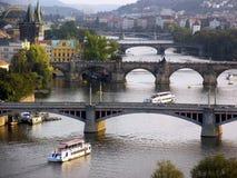布拉格河vlatava 免版税库存图片