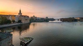 布拉格河vltava 免版税库存照片