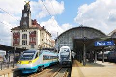 布拉格火车站,捷克共和国 免版税图库摄影