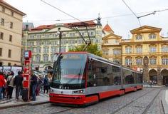 布拉格电车 免版税库存照片
