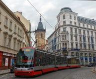 布拉格电车 免版税图库摄影
