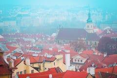 布拉格的一个历史部分的全景 免版税库存图片
