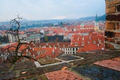 布拉格的一个历史部分的全景 库存照片