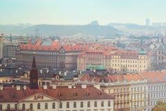 布拉格的一个历史部分的全景 免版税库存照片