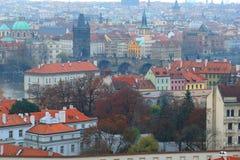 布拉格的一个历史部分的全景 库存图片