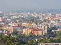布拉格的全景在一个夏天早晨 捷克语 库存照片