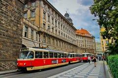 布拉格的历史中心 免版税库存图片