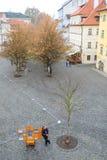 布拉格的历史部分的庭院 库存图片