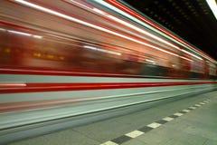 从布拉格的地铁站 免版税库存照片