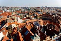 布拉格的屋顶 免版税库存照片