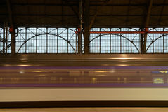 从布拉格的EC火车向维也纳 库存图片