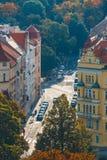 布拉格看法从Vysehrad堡垒,捷克小山的  免版税库存图片