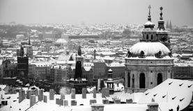 布拉格在冬天 免版税库存照片