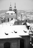 布拉格在冬天 免版税库存图片