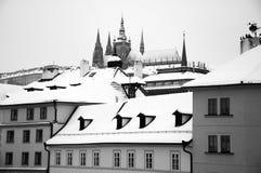 布拉格在冬天 库存图片