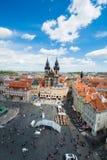 布拉格看法在明亮的夏日 免版税库存图片