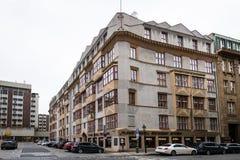 布拉格立体派建筑学 库存图片